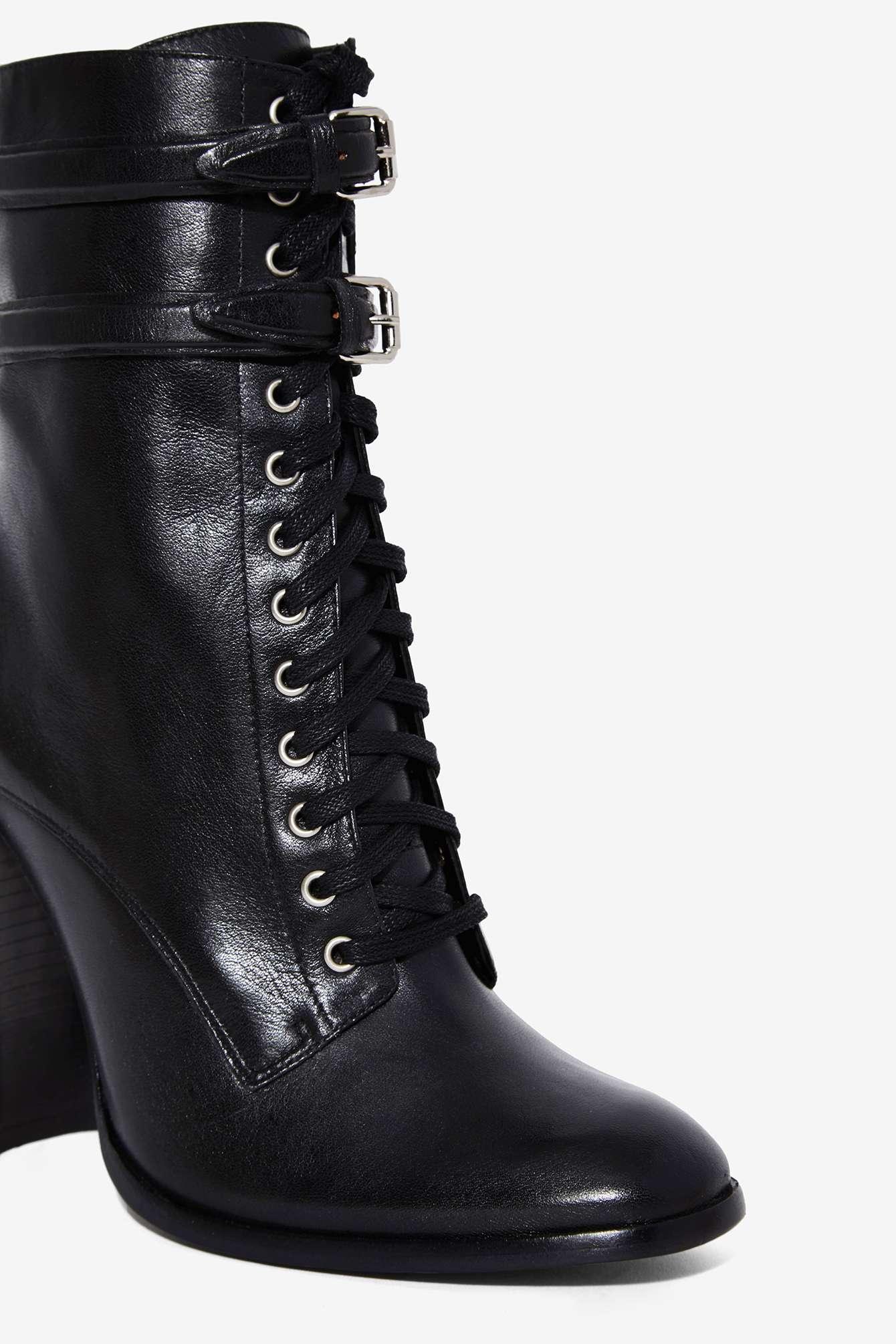 Lyst Schutz Makayla Leather Boot In Black