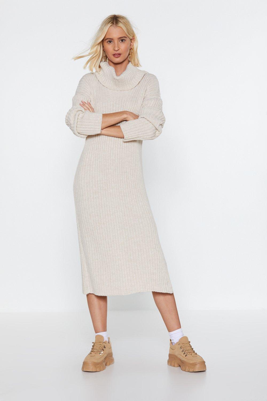 1b0080e7734 ... Let s Get Things Rolling Turtleneck Sweater Dress - Lyst. View  fullscreen