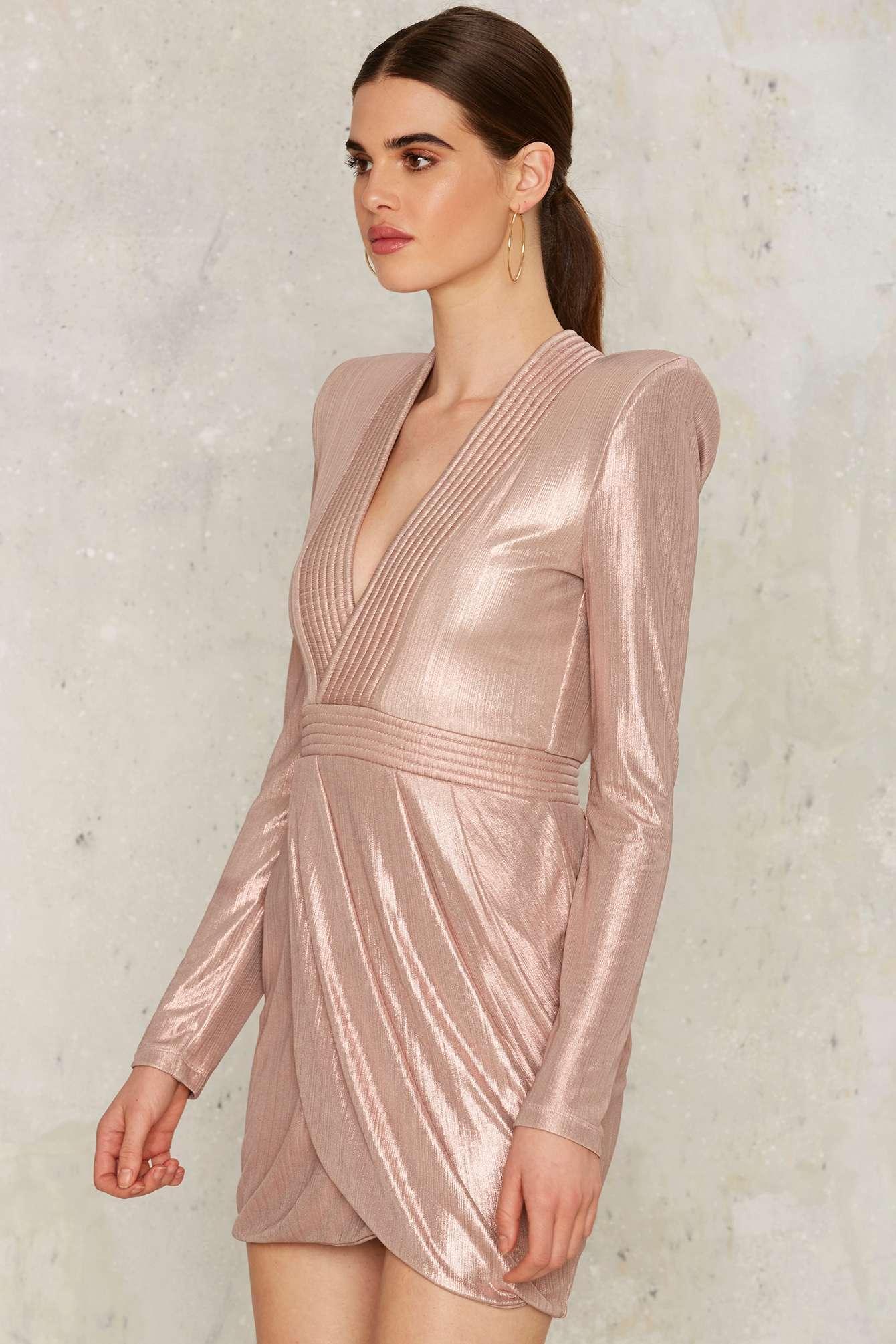 d1ab1cde0529 Zhivago Eye Of Horus Mini Dress - Metallic in Pink - Lyst