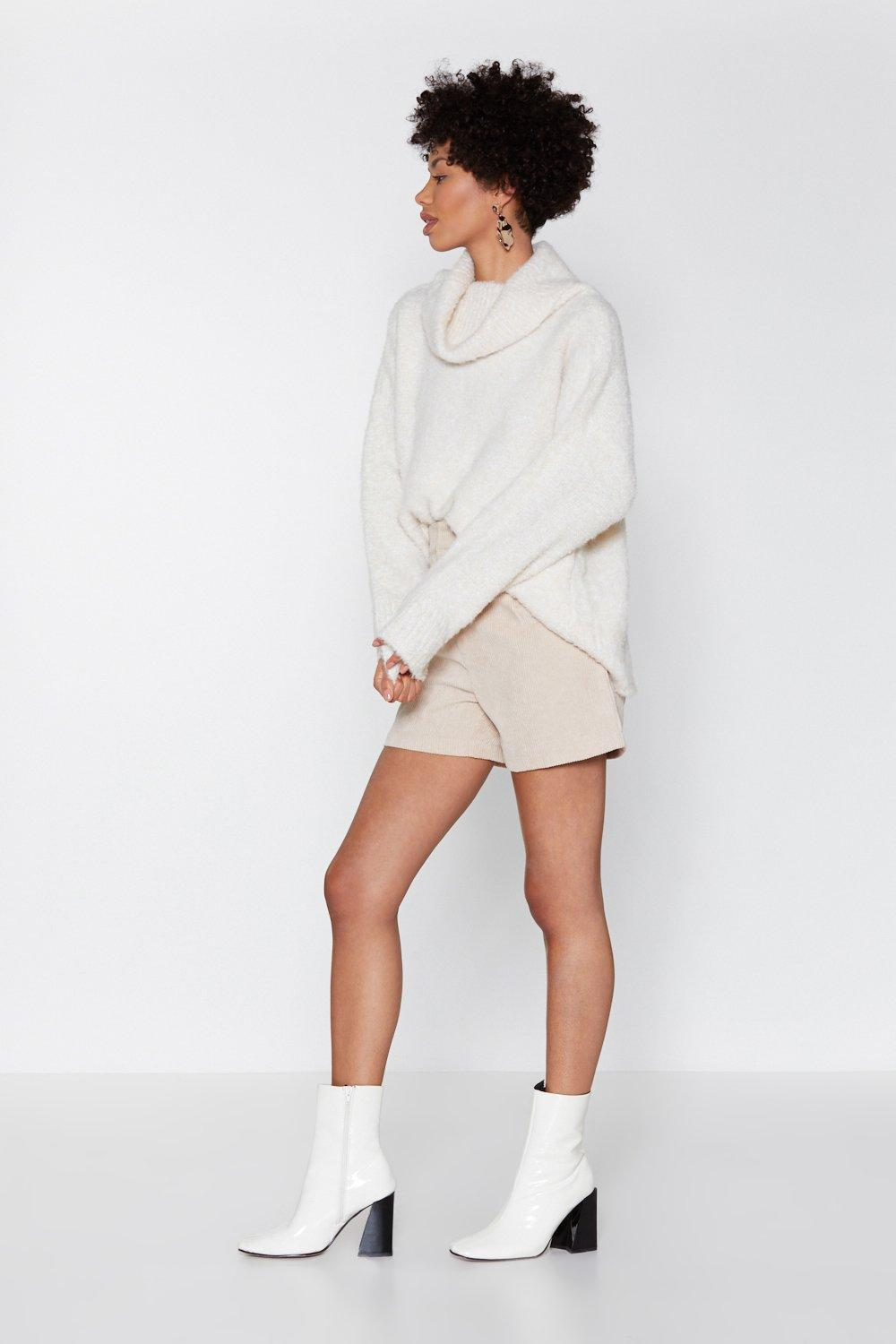 008f0fa25df Nasty Gal - Natural Oversize Up The Competition Turtleneck Sweater - Lyst.  View fullscreen