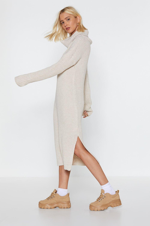 7d9300f7692 Nasty Gal. Women s Let s Get Things Rolling Turtleneck Sweater Dress