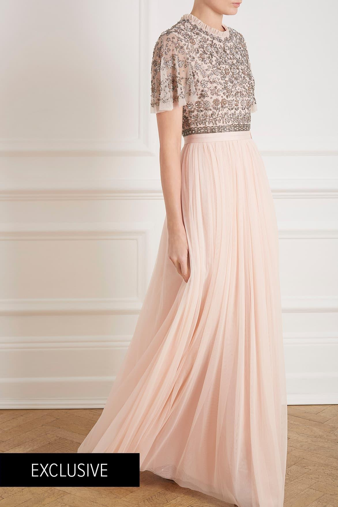 8e2b3837855 Needle   Thread - Pink Andromeda Cap Sleeve Backless Gown - Lyst. View  fullscreen