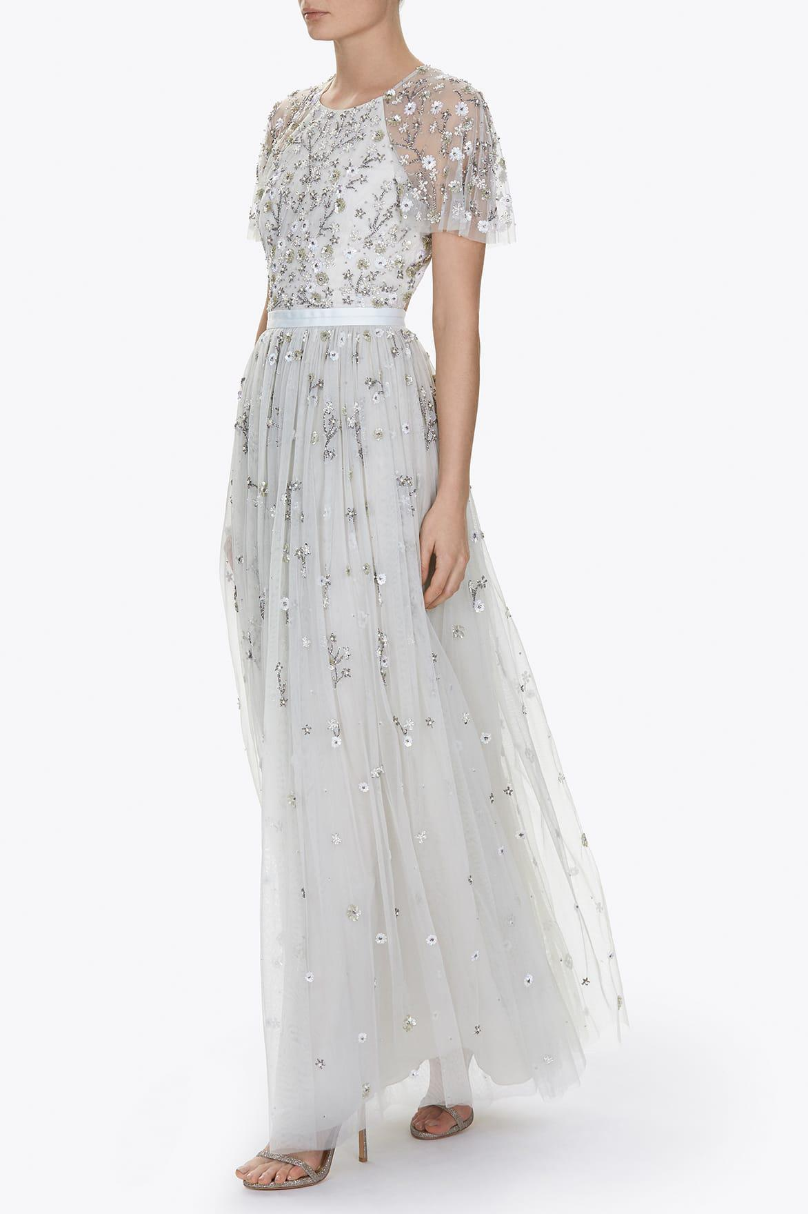 Lyst Needle Amp Thread Starlit Embellished Tulle Gown