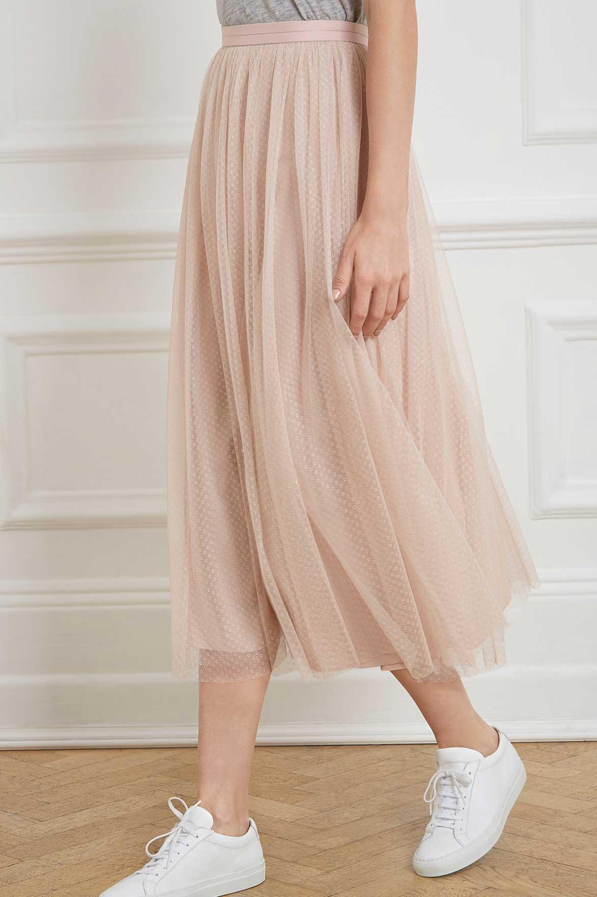 enjoy clearance price sale retailer variety of designs and colors Needle & Thread Dotted Tulle Midaxi Skirt in Rose (Pink) - Lyst