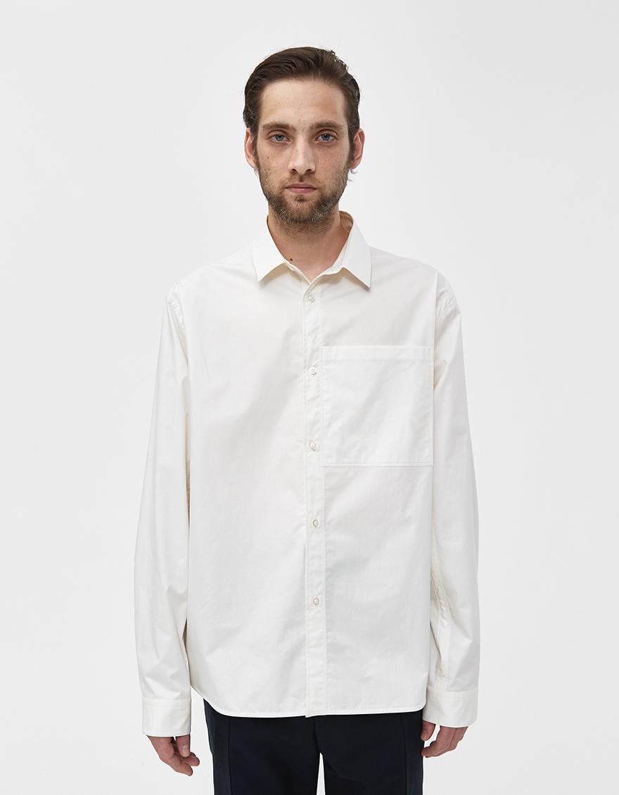 9715a9437b Lyst - Jil Sander Siepe Poplin Shirt in Natural for Men