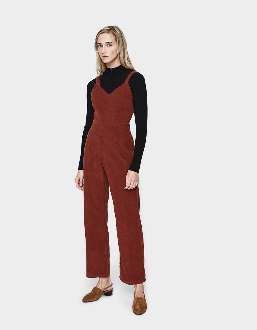 7e71759340 Paloma Wool Peto Corduroy Jumpsuit in Red - Lyst
