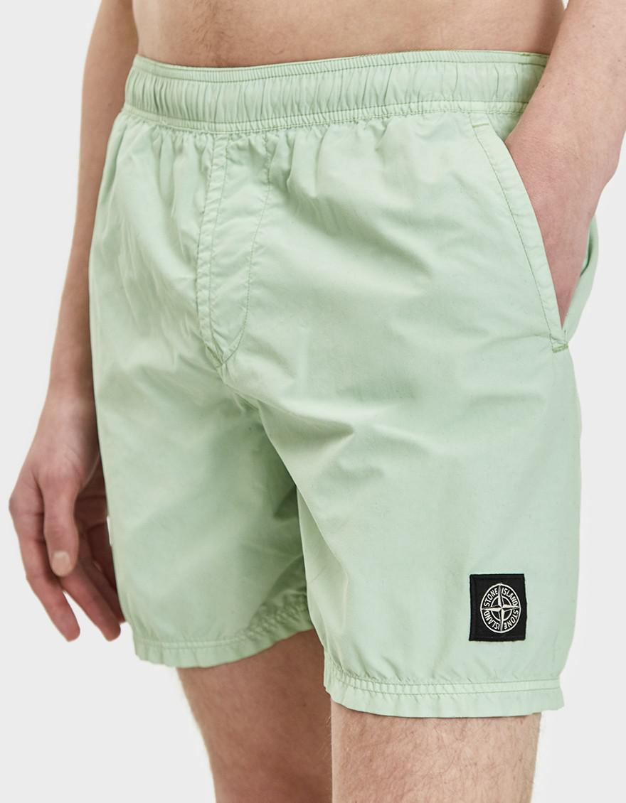 76799ec7b7 Stone Island Brushed Nylon Swim Shorts In Light Green in Green for ...