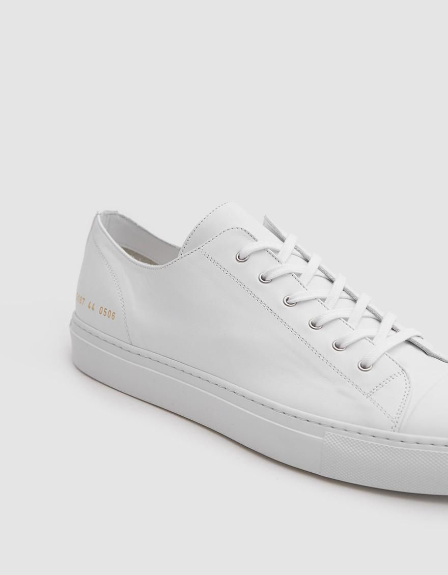 Common Projects White Tournament Low Cap Toe Sneakers BQqDwRQwYc