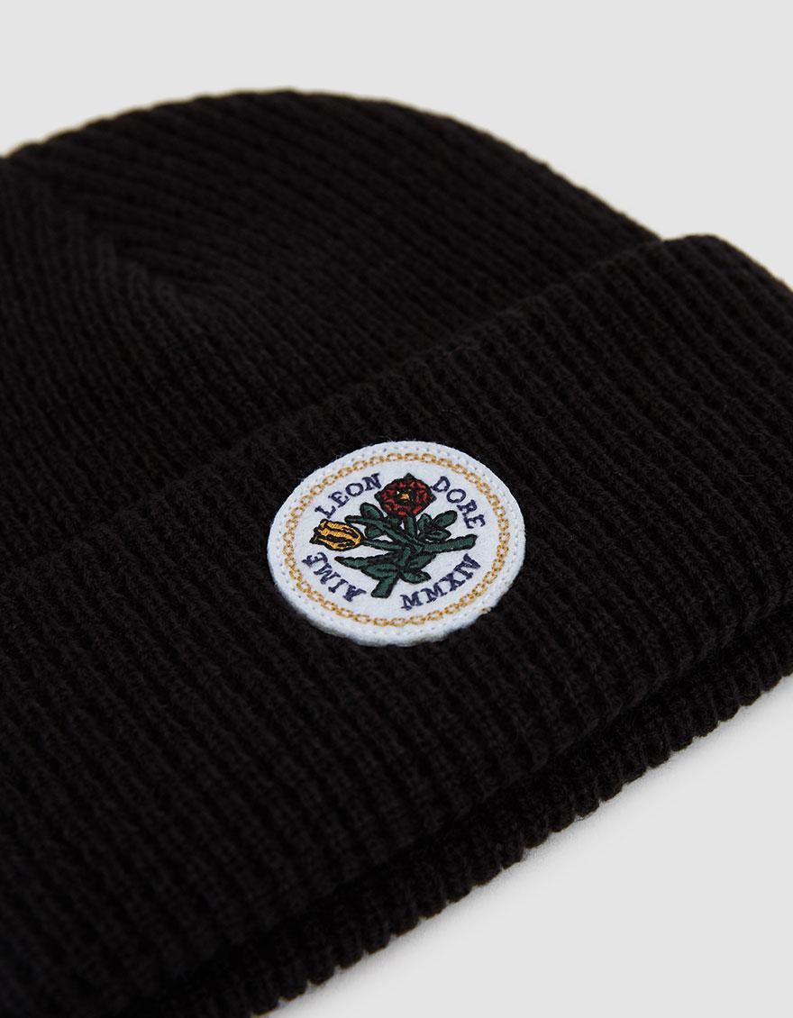 14cabe8de5c72 Aimé Leon Dore Logo-appliquéd Waffle-knit Beanie in Black for Men - Lyst