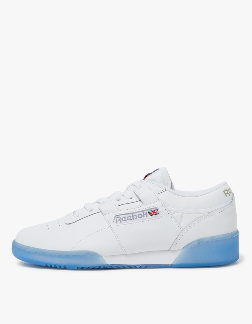 Lyst - Reebok Workout Low Clean Ice In White in White for Men ba4eab6b7