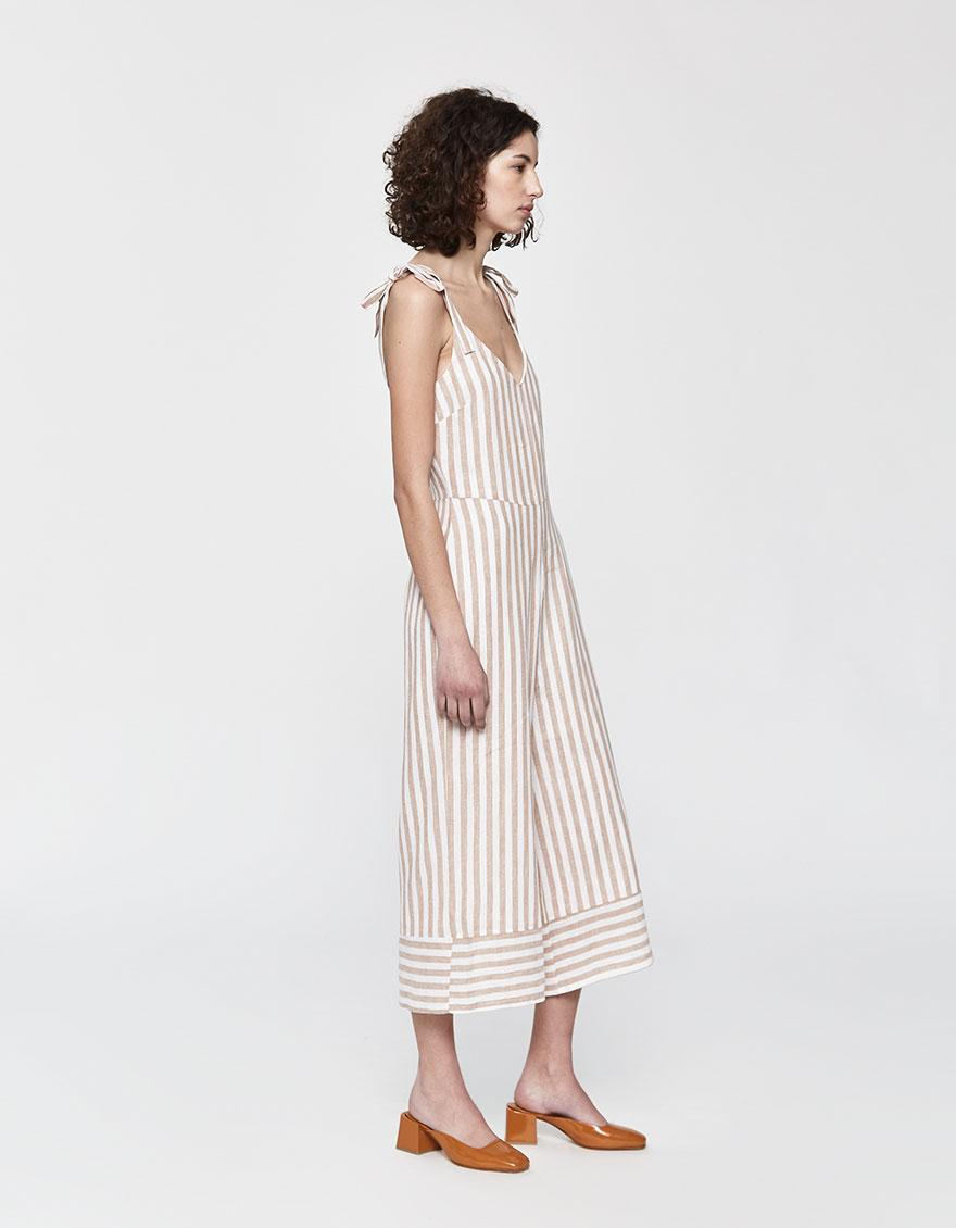 12b49528d415 Lyst - Farrow Camille Striped Jumpsuit in White