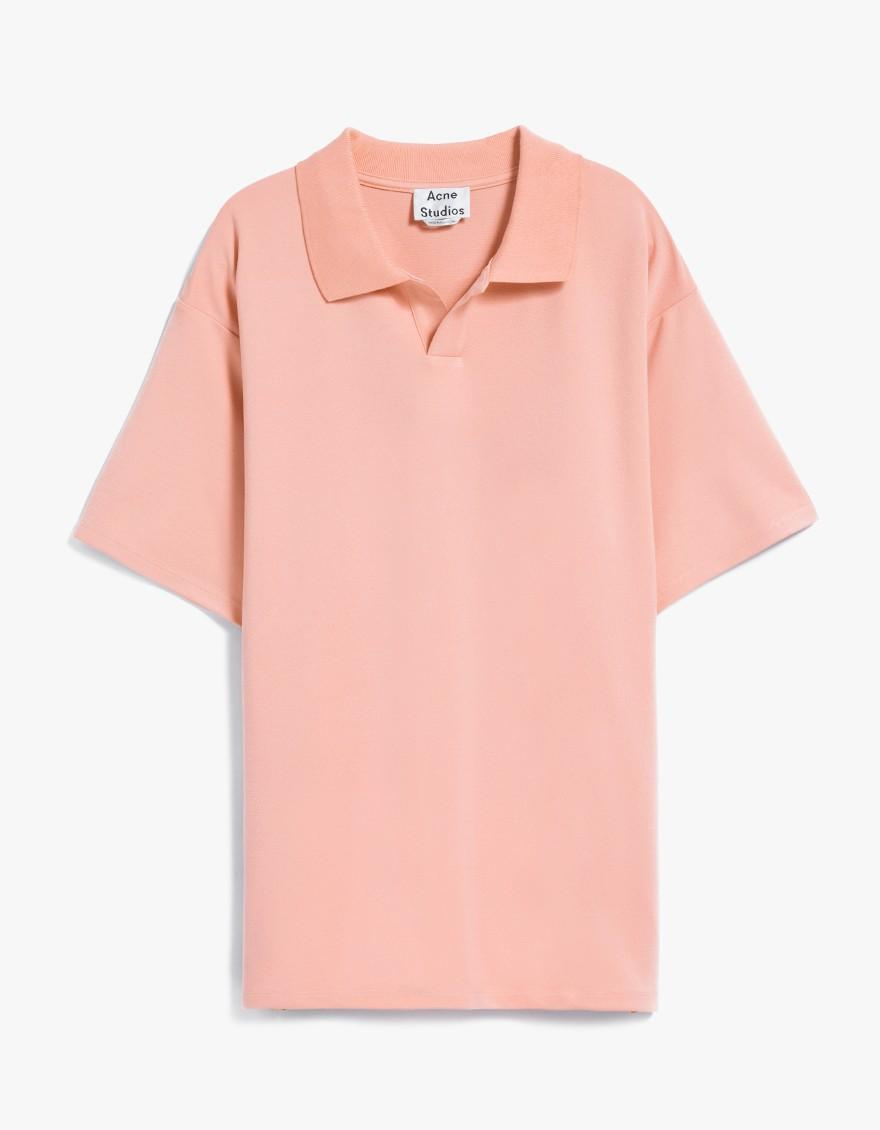 Lyst Acne Studios Norfolk Polo In Pale Pink In Pink For Men