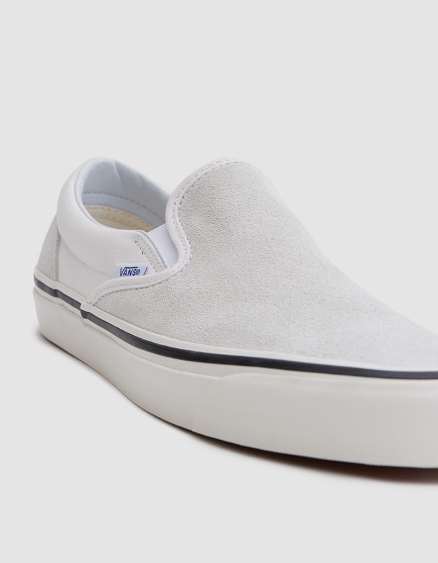 496f7553235a Lyst - Vans Classic Slip-on 98 Dx Anaheim Factory In Og White in ...