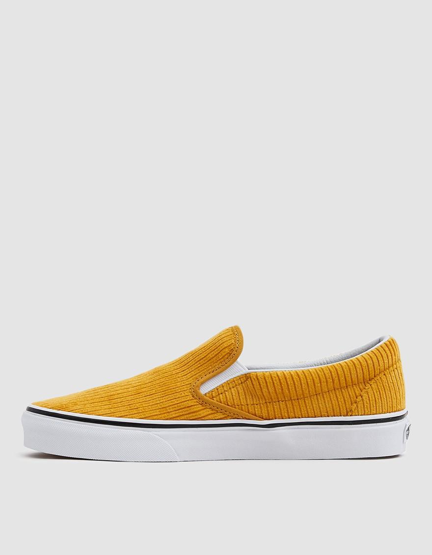 30e637074df8 Vans Corduroy Slip-on Design Assembly Sneaker in Yellow - Lyst