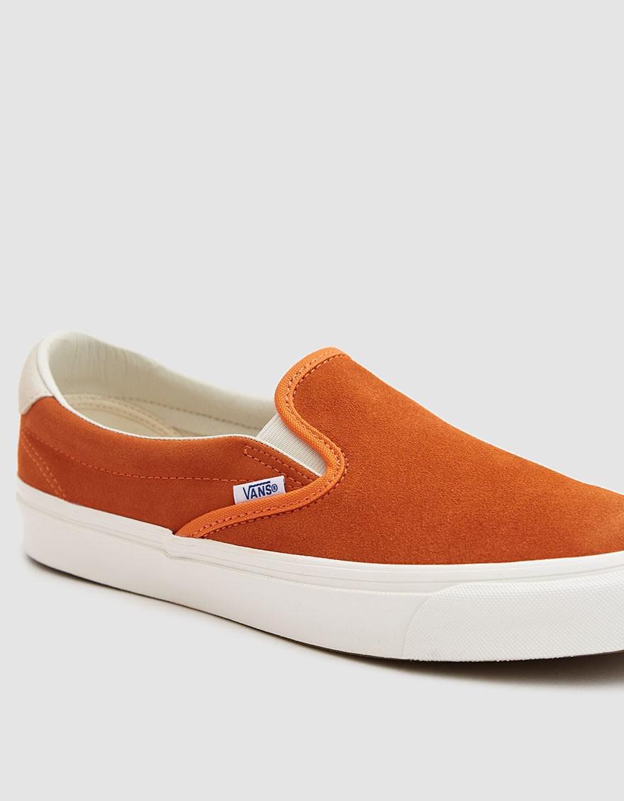 aec335bd930c93 Lyst - Vans Og Slip-on 59 Lx Suede Sneaker In Red Orange marshmallow ...