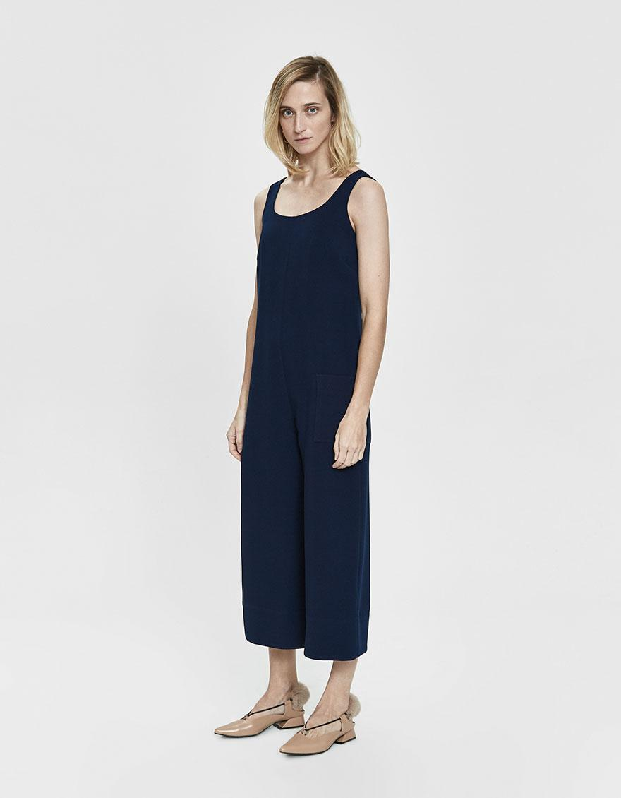 Lyst - Nomia Wide Leg Jumpsuit in Blue 2f6bb7a9225