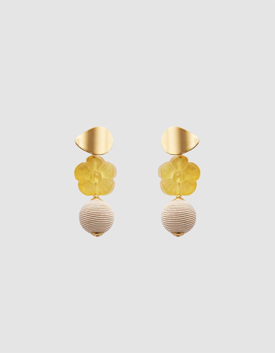 Lizzie Fortunato Goldenrod Column Earrings f8Hm1