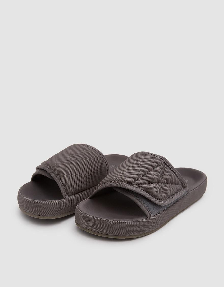 644cf0d7a Lyst - Yeezy Nylon Slipper In Graphite in Gray