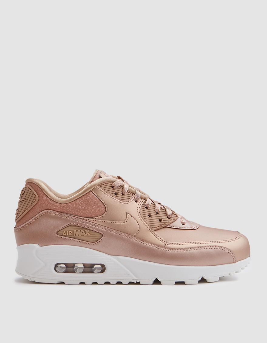 Nike. Women's Air Max 90 Premium In Red Bronze