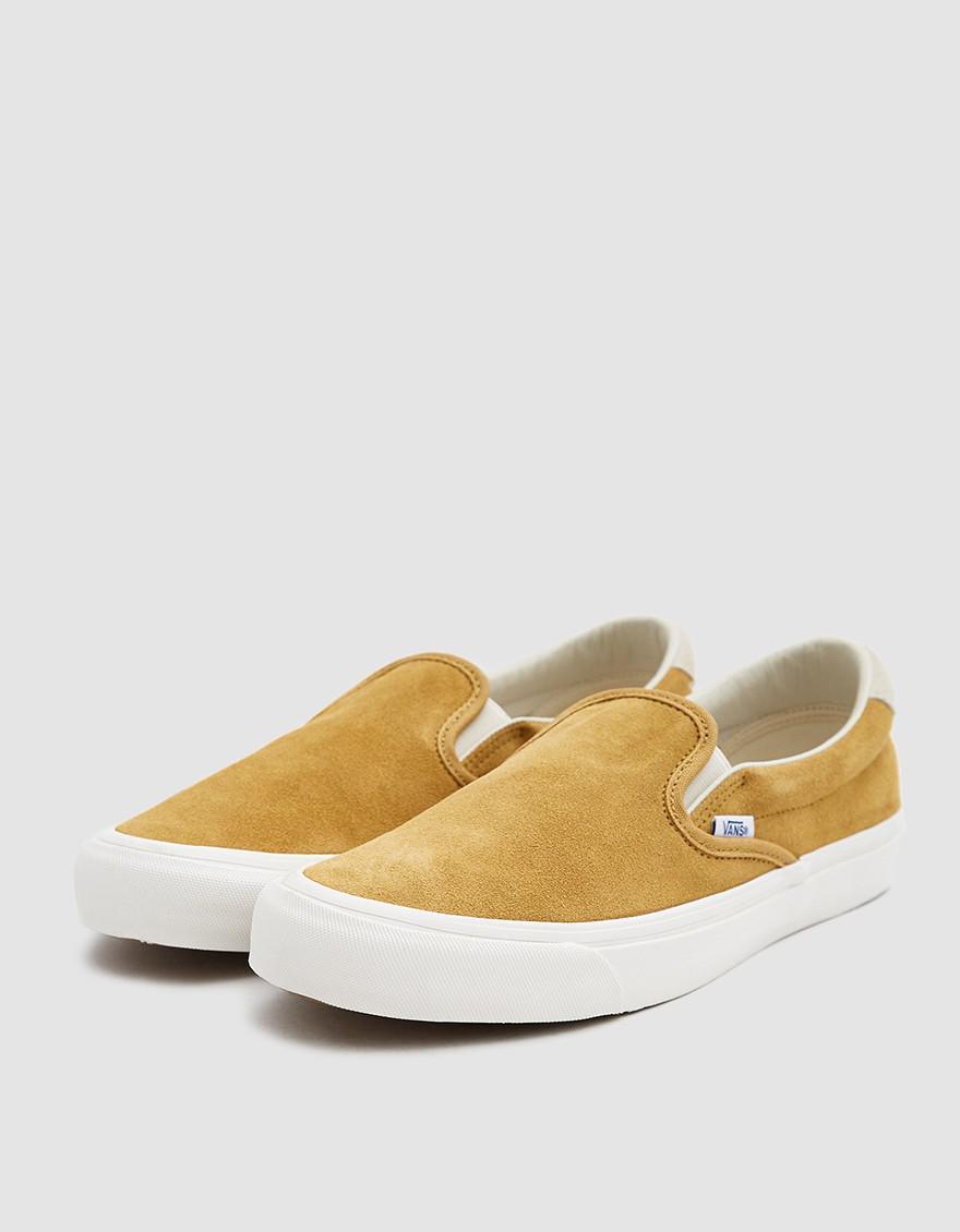 c1b923689a Lyst - Vans Og Slip-on 59 Lx Suede Sneaker In Honey Mustard ...