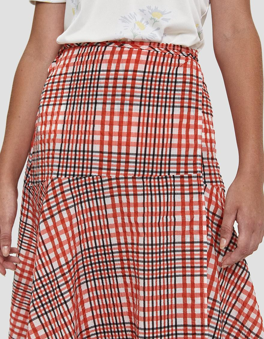 dedef153ce34a1 Ganni Charron High-low Skirt in Red - Lyst