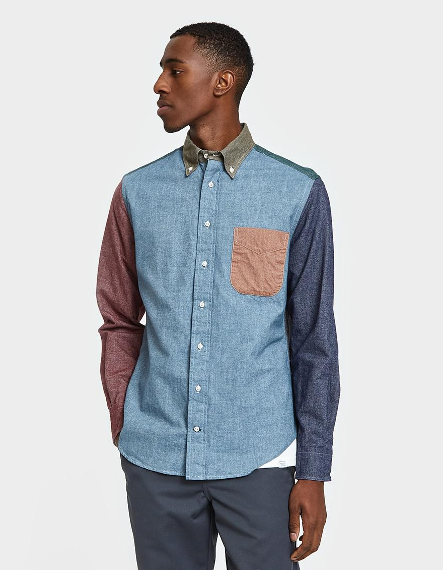 Lyst Gitman Brothers Vintage Flannel Chambray Shirt In