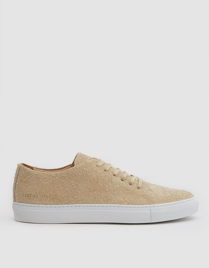 Common Projects Tan Suede Court Low Sneakers leUSIZ9