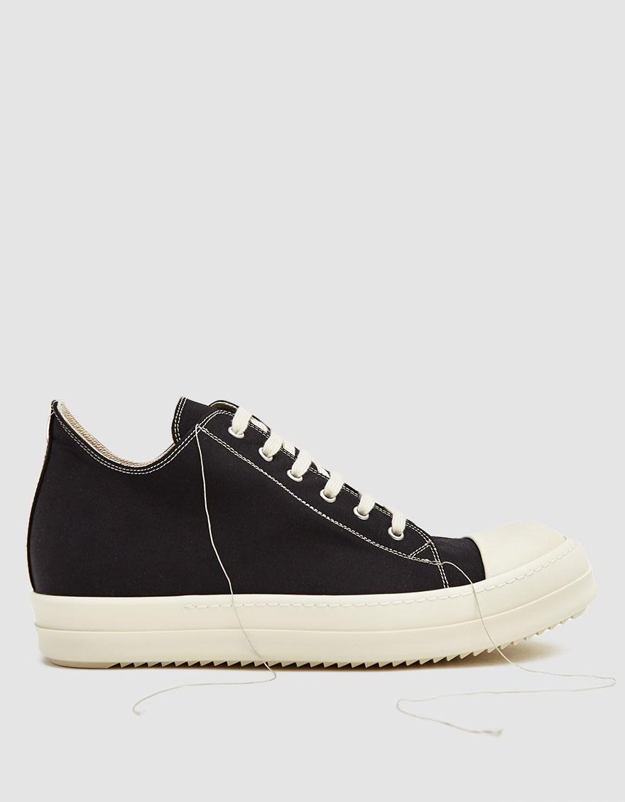 30355703624c Lyst - Rick Owens Drkshdw 2-tone Stitch Low Top Sneaker in Black for ...