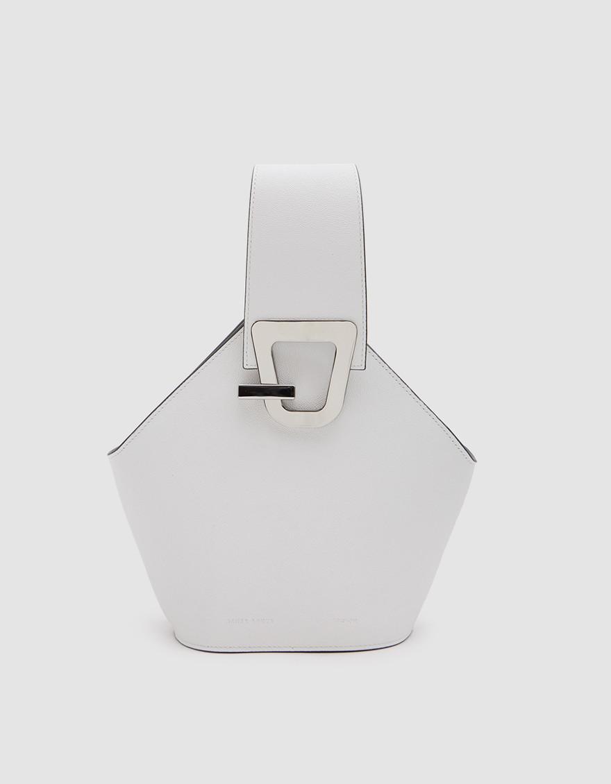 91c64c5c0c92 Danse Lente Mini Johnny Bucket Bag In White in White - Lyst