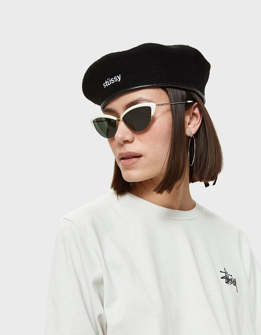 074d932690e7bc Stussy Military Beret In Black in Black - Lyst