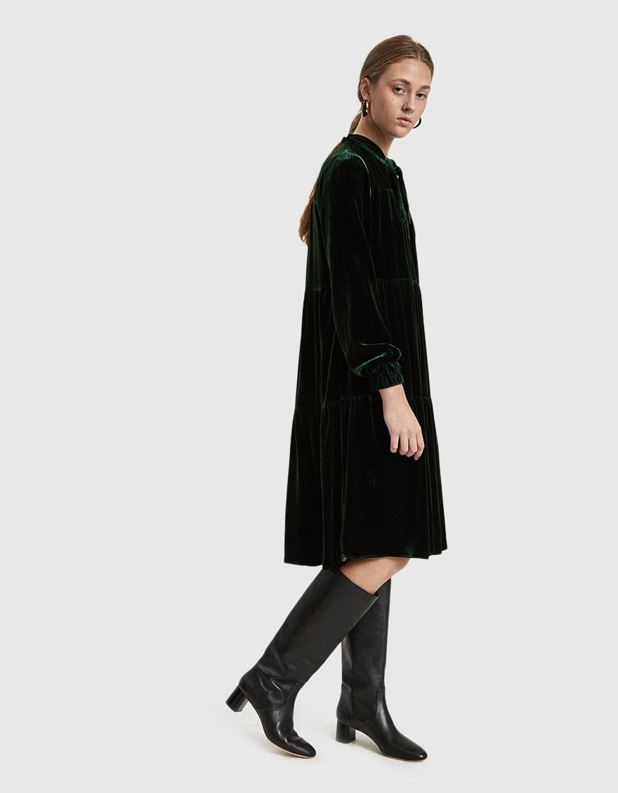 910d1b9320c929 Just Female Juliette Midi Dress in Black - Lyst