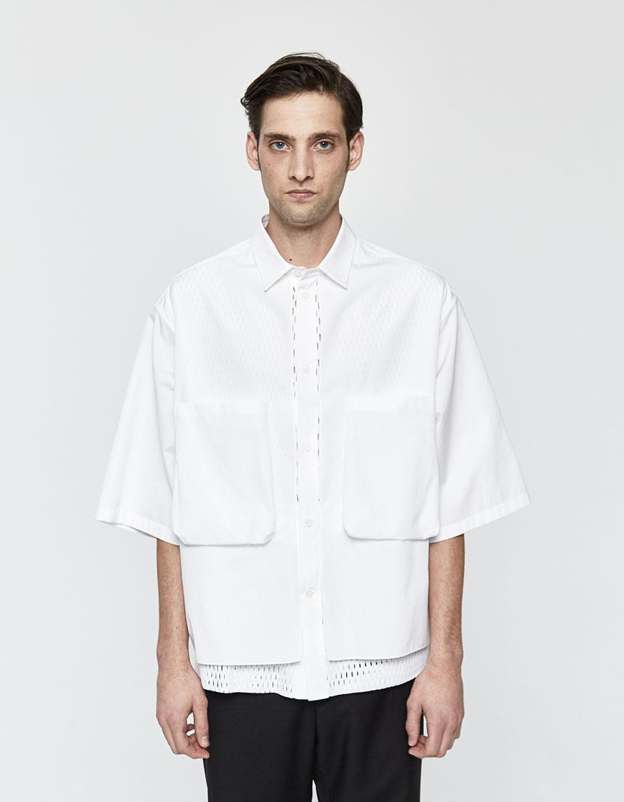 e36a20b6ad6a7 Lyst - OAMC Vent Button Up Shirt in White for Men