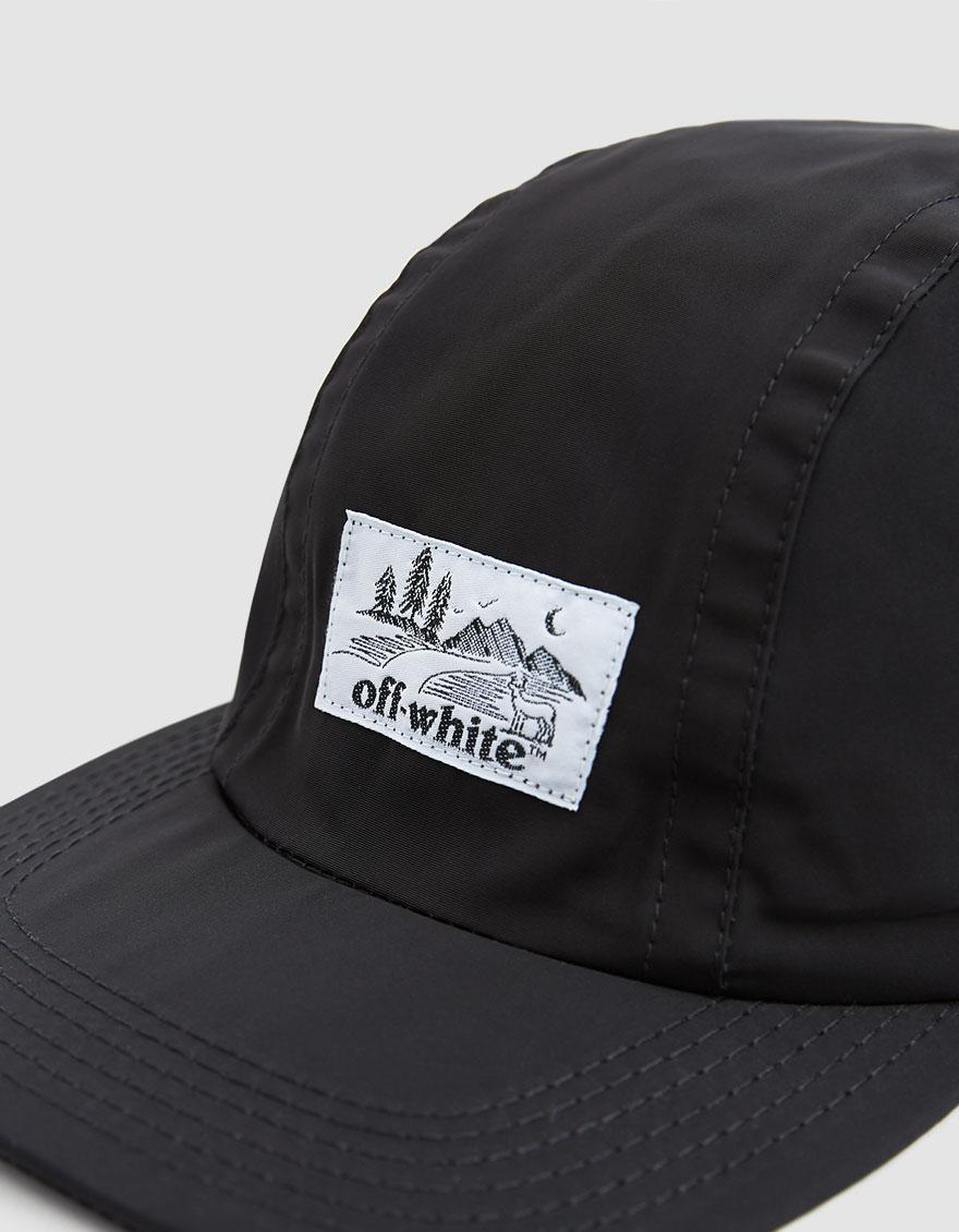 e362f061a24 Lyst - Off-White c o Virgil Abloh Five Panel Poly Cap in Black for Men