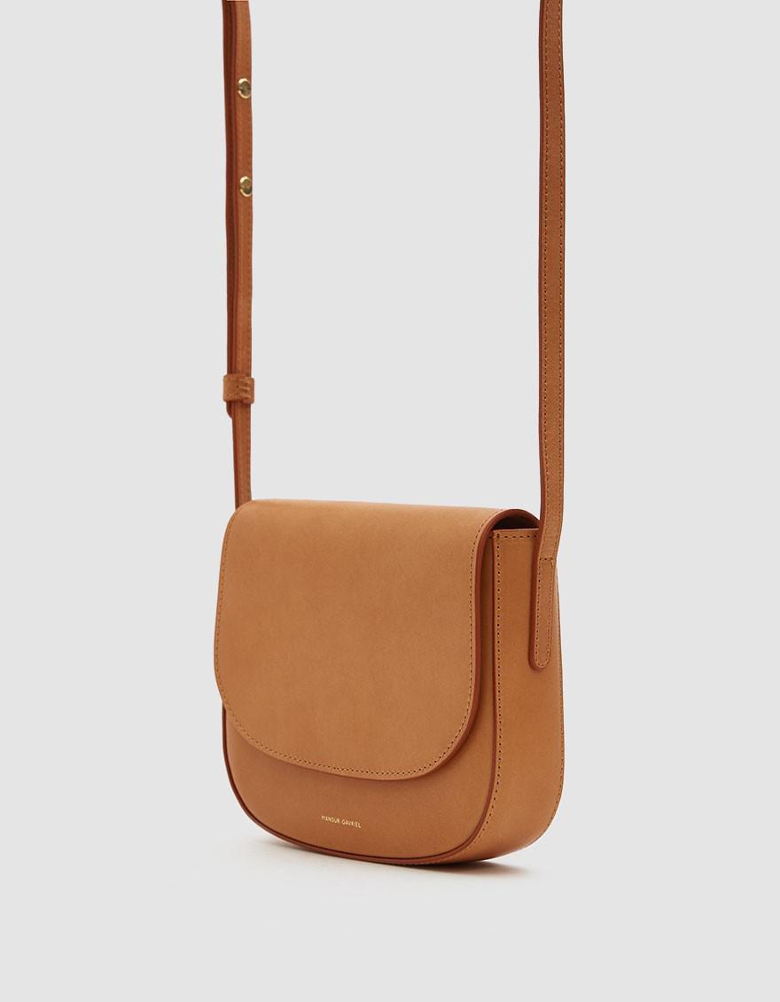 5bc9afb5b14c Mansur Gavriel Mini Crossbody Bag in Brown - Lyst