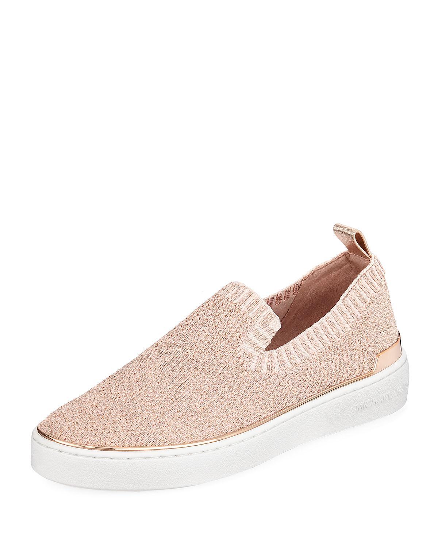 c3ca7249fd3c Lyst - Michael Kors Michael Skyler Slip-on Sneakers in Pink