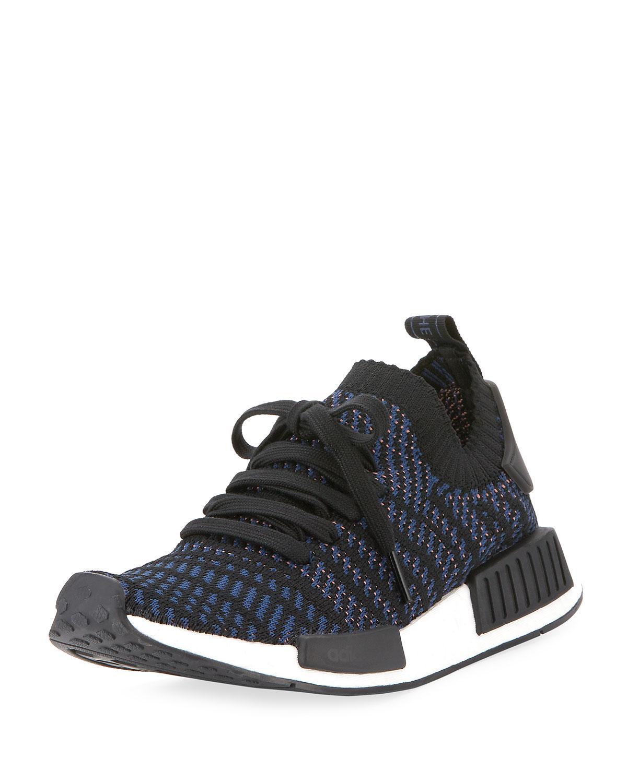 lyst adidas nmd r1 primeknit sneaker in schwarz für männer