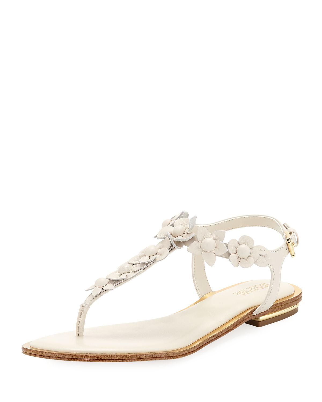 92c55114bb87 Lyst - Michael Kors Tricia Flat Thong Sandals