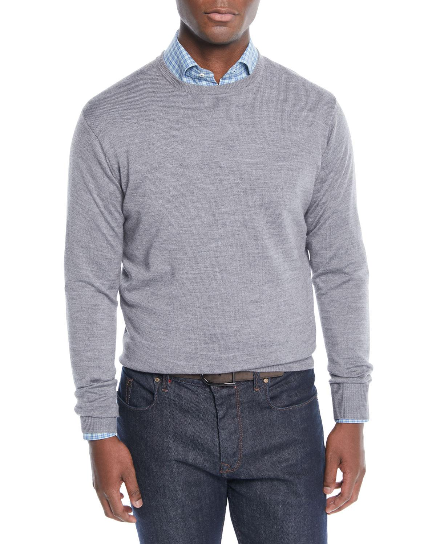 49ffb9cd3 Lyst - Peter Millar Men s Crown Soft Wool silk Crewneck Sweater in ...