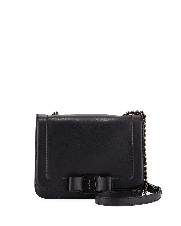 e16fd91b99 Lyst - Ferragamo Small Vara Bow Shoulder Bag With Tonal Hardware in ...
