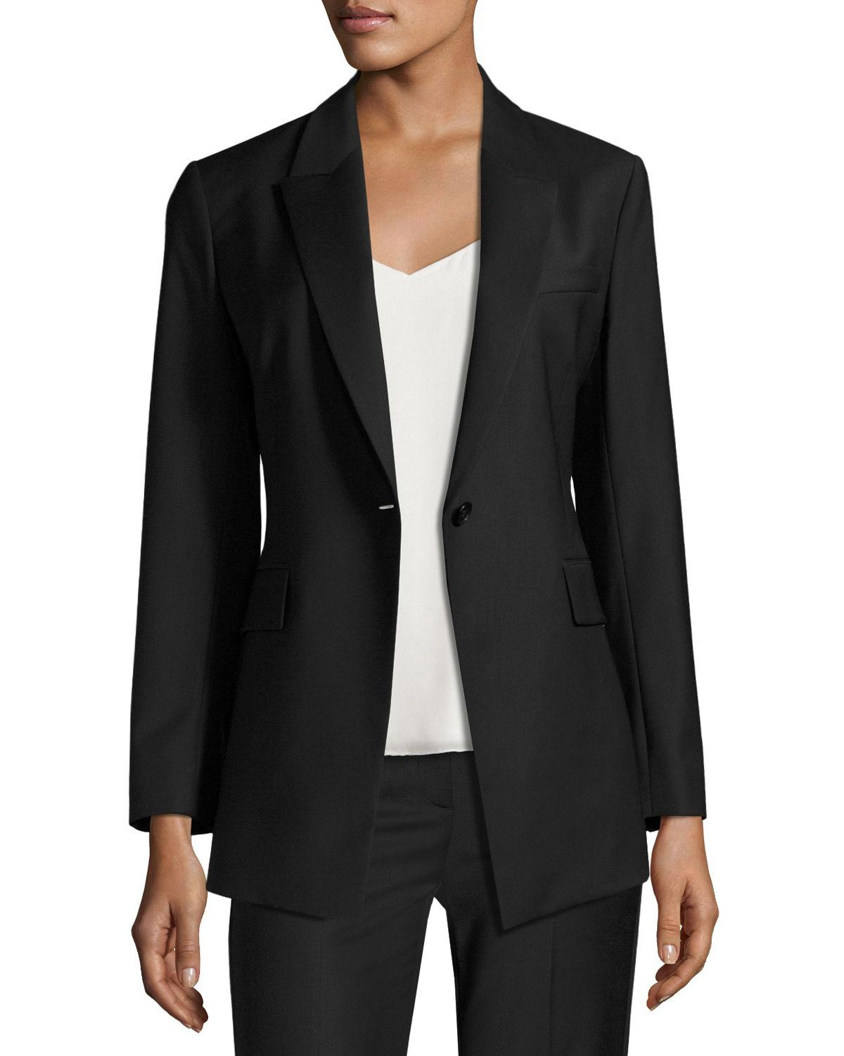 ece69b238422 Theory Etiennette Continuous Long-line Blazer in Black - Save 67% - Lyst