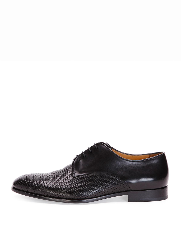 Giorgio armani Woven Leather Dress Shoe for Men | Lyst