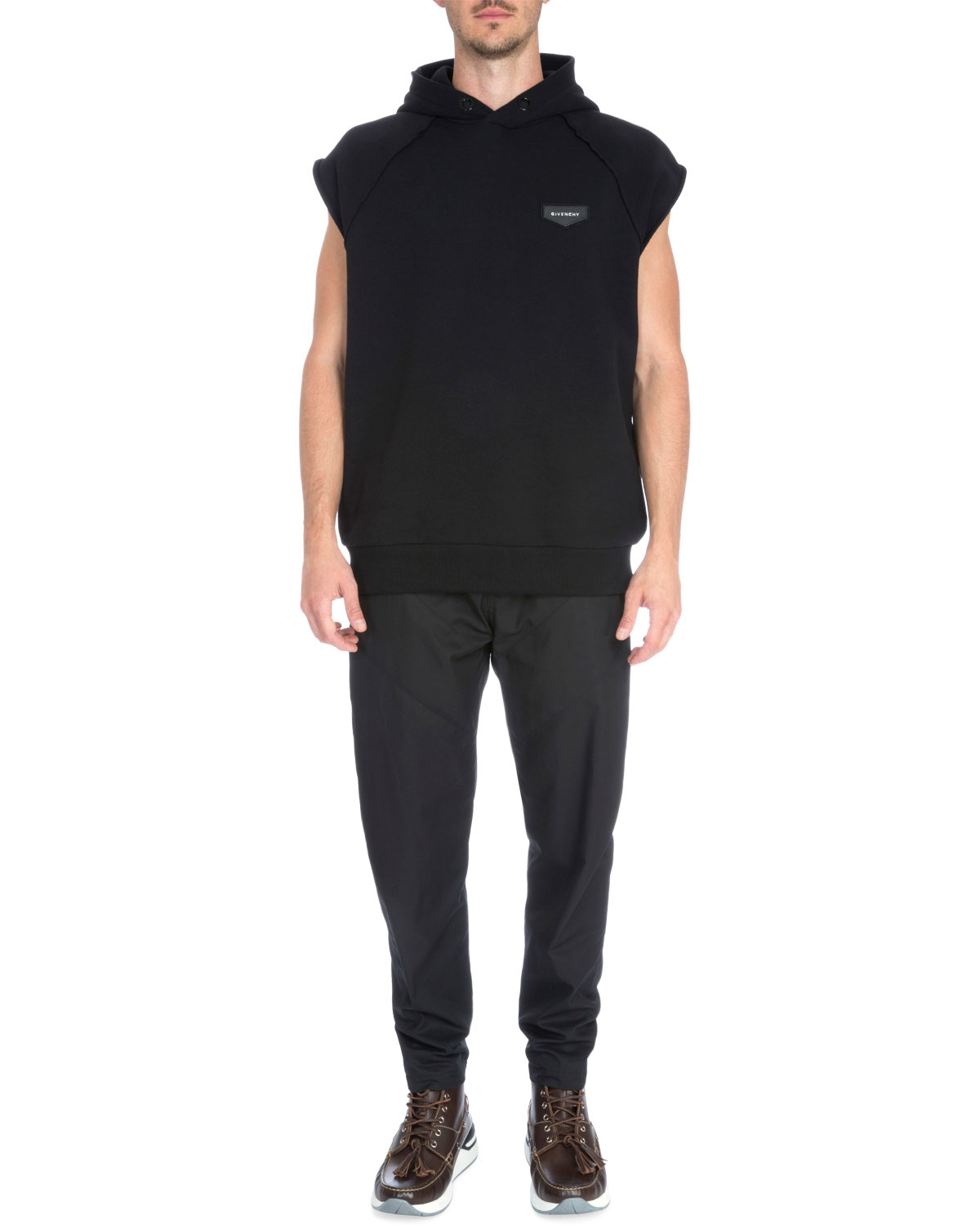 givenchy sleeveless hooded pullover sweater in black for men lyst. Black Bedroom Furniture Sets. Home Design Ideas