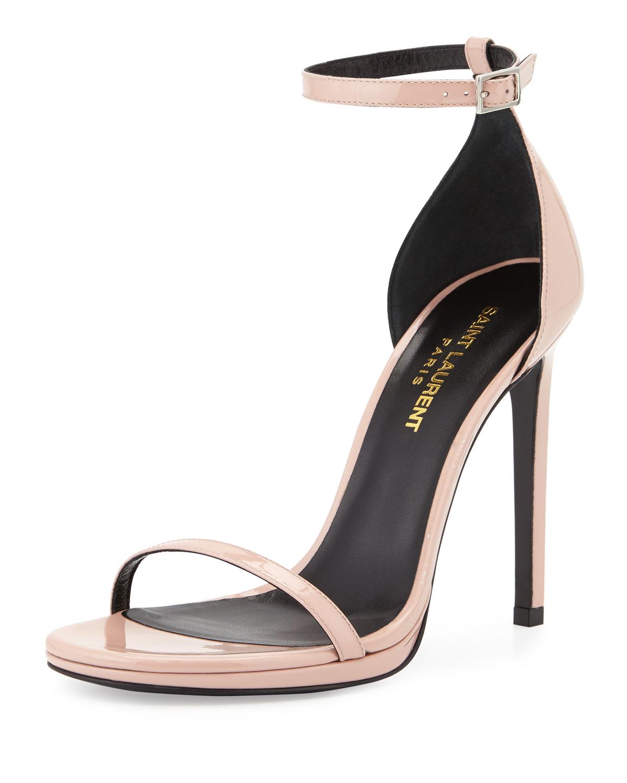 49438689c97 Saint Laurent Jane Patent D'orsay Sandal in Pink - Lyst