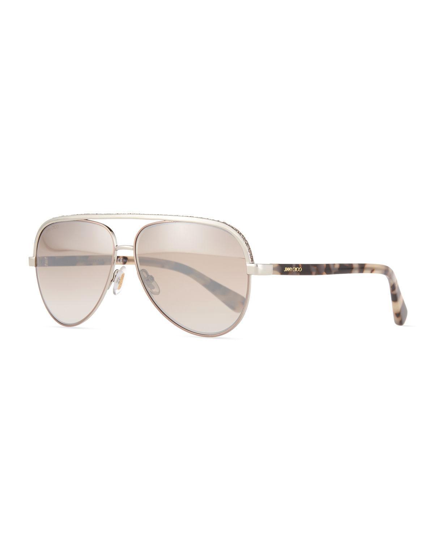 0fd8d37f4be Jimmy Choo Aviator Sunglasses With Rhinestones « Heritage Malta