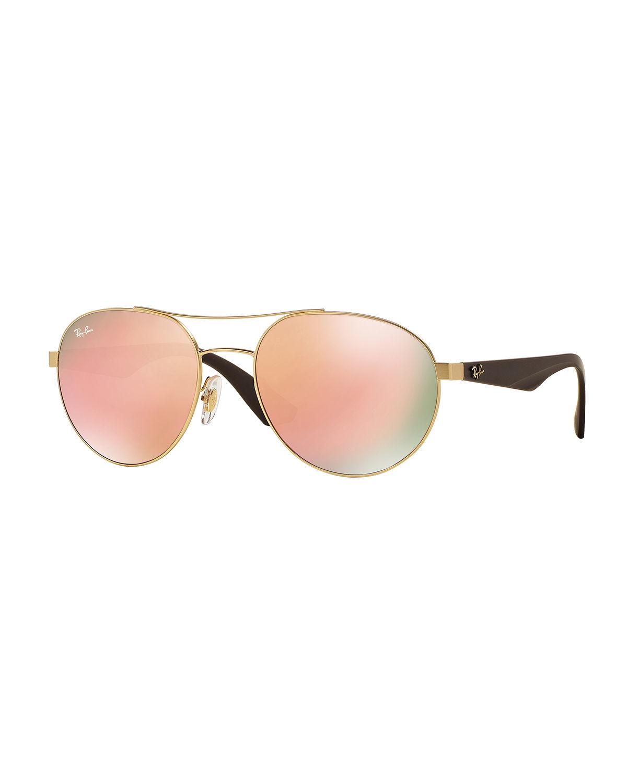 14b9afc36d Ray-ban Womens Shiny Silver Aviator Sunglasses