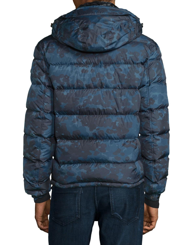 Lyst Burberry Brit Myton Camo Print Nylon Puffer Jacket