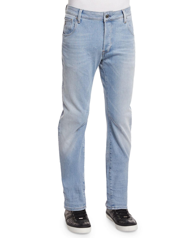 star raw arc 3d aged slim denim jeans in blue for men lyst. Black Bedroom Furniture Sets. Home Design Ideas