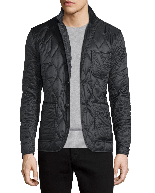 burberry brit gillington quilted jacket in black for men lyst. Black Bedroom Furniture Sets. Home Design Ideas
