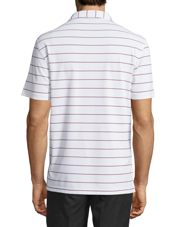 Peter millar performance striped short sleeve polo shirt for Peter millar polo shirts