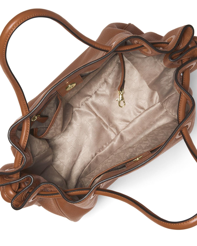 15b0e38d248f MICHAEL Michael Kors Dalia Large Leather Tote Bag in Brown - Lyst